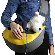 Кошка Собака Переезд и перевозные рюкзаки Слинг Животные Корзины Однотонный Компактность Дышащий Желтый Розовый Зеленый Синий Розовый