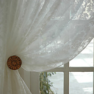 Dvije zavjese Prozor Liječenje Zemlja Moderna Neoclassical Rococo Barroco Europska Dizajnerske Bedroom Mješavina poliester/pamuk Materijal