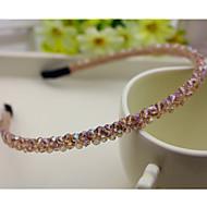 Etelä-Korea tuotu hiusneula rhinestone helmillä pään vanne koristeet kaksirivinen kristalli hiukset bändi samppanjaa