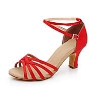 Női szatén boka Stripe Latin Dance Shoes szandál (További színek)