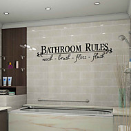 Wall Stickers Wall Decals Style Bathroom Rules English Words & Quotes PVC Wall Stickers