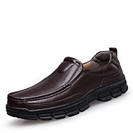 Miehet kengät Nahka Kevät Kesä Syksy Talvi Comfort Mokkasiinit Käyttötarkoitus Kausaliteetti Musta Ruskea