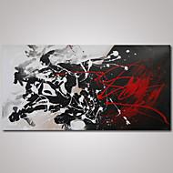 Kézzel festett Absztrakt Modern Egy elem Vászon Hang festett olajfestmény For lakberendezési