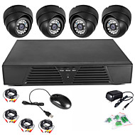 szsinocam® 4ch Full D1 Видеорегистратор видеонаблюдения Обнаружение движения купольные камеры безопасности дома комплект 600TVL ночного видения