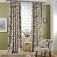 Dvije zavjese Prozor Liječenje Zemlja Moderna Neoclassical Mediterranean Europska Living Room Polyester Materijal Blackout Zavjese Zavjese