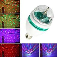 Youoklight® 1ks e27 automatické rotace 3w 240-280lm barevné rgb světlo 3-led lampa žárovka pro dekoraci (ac110-120v / 220-240v)