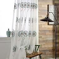 Dvije zavjese Zemlja / Moderna / Neoclassical Cvjetni / Botanički Višebojne Bedroom Polyester Sheer Zavjese Shades
