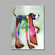 מצויר ביד בעלי חיים מודרני פנל אחד בד ציור שמן צבוע-Hang For קישוט הבית