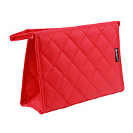 Mulher Bolsas Todas as Estações Lona Acrílico Metal Nécessaire com Fru-Fru para Uso Profissional Fúcsia Vermelho Azul Rosa claro Rosa