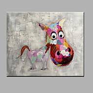 מצויר ביד בעלי חיים אופקי,מודרני פנל אחד בד ציור שמן צבוע-Hang For קישוט הבית