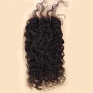 10-20inch Luonnollisen musta (#2) Käsinkudottu Löysät aaltoilevat Aitohius Päättäminen Medium Brown Sveitsiläinen pitsi 20-60g gramma