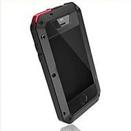 iphone 7 mais Joyland de metal à prova de água& zero caso de volta prova para iPhone 5 / 5s
