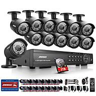annke® 16CH 1080p Видеорегистратор CCTV Открытый ИК камеры системы домашней безопасности с 2TB жесткого диска