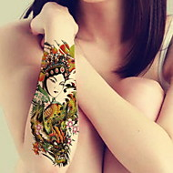 1-22*15cm-Πράσινο-Flowers Artistes-BR-Σειρά Κοσμημάτων / Σειρά Λουλουδιών / Σειρά Τοτέμ / Άλλα-Αυτοκόλλητα Τατουάζ-Non Toxic / Μοτίβο /