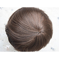Undetectable Super Thin Skin Men's Toupee Full PU Toupee for Men 8x10 V--looped Hair Piece System