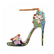 Femme Chaussures Similicuir Eté Talon Aiguille Plateforme Pour Habillé Soirée & Evénement Vert