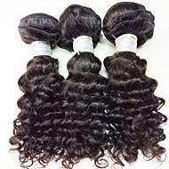 """3pcs / lot 150g 8-24 """"cheveux vierges brésiliens cheveux noirs naturels cheveux humains non transformés tissent des faisceaux"""