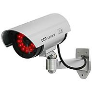 kingneo caméra 1pc blanc sans fil faux factice dôme de vidéo surveillance de sécurité a conduit la lumière