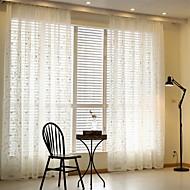 Dvije zavjese Zemlja / Moderna / Europska Loza Obala Living Room Mješavina poliester/pamuk Sheer Zavjese Shades