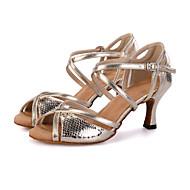 Aanpasbaar-Dames-Dance Schoenen(Zilver / Goud) - metWijd uitlopende hak- enBuikdans / Latin / Jazz / Danssneakers / Modern / Samba /