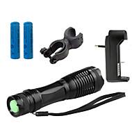 פנס LED LED 4000 Lumens 5 מצב Cree XM-L T6 18650 AAA מיקוד מתכוונן עמיד לחבטות אחיזה נגד החלקה נטענת עמיד במים טקטי חירום גודל קטן קל