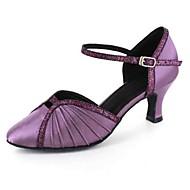 Dansesko(Sort Blå Lilla Rød Hvid Grå) -Kan tilpasses-Personligt tilpassede hæle-Damer-Latin Moderne