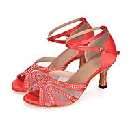 Sapatos de Dança(Preto / Azul / Roxo / Vermelho) -Feminino-Personalizável-Dança do Ventre / Latina / Jazz / Moderna / Samba / Sapatos de