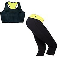 mulheres neoprene aptidão topos esporte yoga + capris de cintura alta