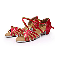 zon lisa latin salsa vrouwen en kinderen sandalen dikke hak satijnen gesp dans schoenen (meer kleuren)