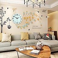 Nouveauté / Autres Moderne/Contemporain Horloge murale,Fleurs / Botaniques / Animaux / Paysage / Mariage / Famille Verre / Métal82cm x