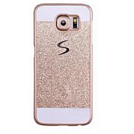 Para Samsung Galaxy S7 Edge Estampada Capinha Capa Traseira Capinha Brilho com Glitter PC SamsungS7 edge / S7 / S6 edge plus / S6 edge /