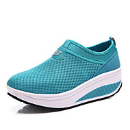 Damen Schuhe Tüll Frühling Sommer Herbst Komfort Fitness & Crosstraining Plateau Für Sportlich Normal Schwarz Grau Rot Blau