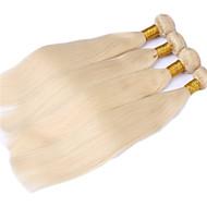 Ljudska kosa Brazilska kosa Ljudske kose plete Ravna Ekstenzije za kosu 3 komada Blonde
