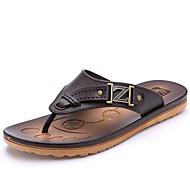 Αντρικό Παντόφλες & flip-flops Ανατομικό PU Καλοκαίρι Causal Ανατομικό Επίπεδο Τακούνι Μαύρο Καφέ Μπλε