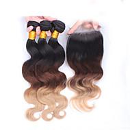 Ombre Euroazijska kosa Tijelo Wave kosa isprepliće
