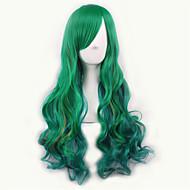 Γυναικείο Συνθετικές Περούκες Χωρίς κάλυμμα Μακρύ Σγουρά Πλευρικό μέρος Μαλλιά με ανταύγειες Σκούρες ρίζες Μαλλιά μπαλαγιάζ Με αφέλειες