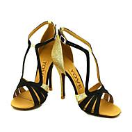 Dansesko(Sort Blå Gul Pink Lilla Rød Hvid Fuchsia) -Kan tilpasses-Personligt tilpassede hæle-Damer-Latin Salsa Ballet