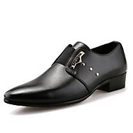 Masculino sapatos Courino Primavera Verão Outono Inverno Sapatos formais Oxfords Caminhada Miçangas Cadarço Para Casamento Casual Festas