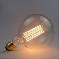e27 40w G125 egyenes huzal nagy izzó villanykörte Edison retro dekoratív izzók