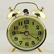 ハイグレード創造4インチ大きな金属ベルリング目覚まし時計超静音夜光ランプ