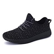 Running Sapatos de Corrida Homens / Mulheres Anti-Escorregar / Húmido / Respirável Tênis Kanye Esportes de Lazer Branco / Preto Correr