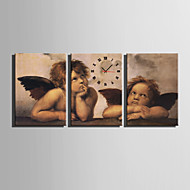 Suorakulma Moderni/nykyaikainen Seinäkello , Muuta Kanvas35 x 50cm(14inchx20inch)x3pcs/ 40 x 60cm(16inchx24inch)x3pcs/ 50 x