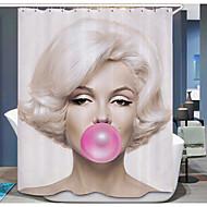 Contemporânea Poli / algodão 1.8*1.8m  -  Alta qualidade Cortinas de Banheiro