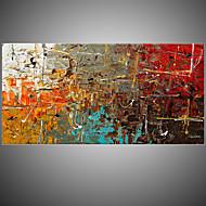 Kézzel festett Absztrakt Vízszintes,Európai stílus Egy elem Vászon Hang festett olajfestmény For lakberendezési