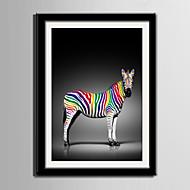 Eläin Kehystetty kanvaasi / Kehystetty setti Wall Art,PVC Maalattu Mukana taustalevy Frame Wall Art
