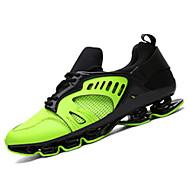 Unissex-Tênis-Conforto-Rasteiro-Verde Prateado Dourado-Couro Ecológico-Casual