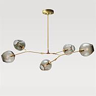 Észak-Európában vintage csillár 5 fő üveg molekulák függesztett lámpák hálószoba világítótestet