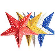 45см Рождественская звезда лазера бумаги рождественские украшения висит складной ручной работы 3d пентаграммы елочные украшения 4 цвета