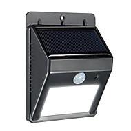 luz solar, 8 LED luz movido a energia solar ao ar livre sem fio à prova d'água movimento de segurança do sensor de parede