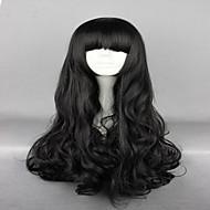Γυναικείο Συνθετικές Περούκες Χωρίς κάλυμμα πολύ μακριά Κυματιστά Μαύρο Με αφέλειες Περούκα άνιμε Απόκριες Περούκα Καρναβάλι περούκα